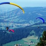 Paragliding and kite flying